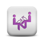 121639-matte-purple-and-white-square-icon-people-things-people-singing